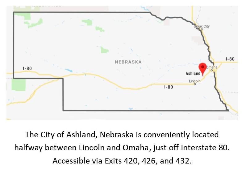 City Of Ashland Ashland Area Location Map